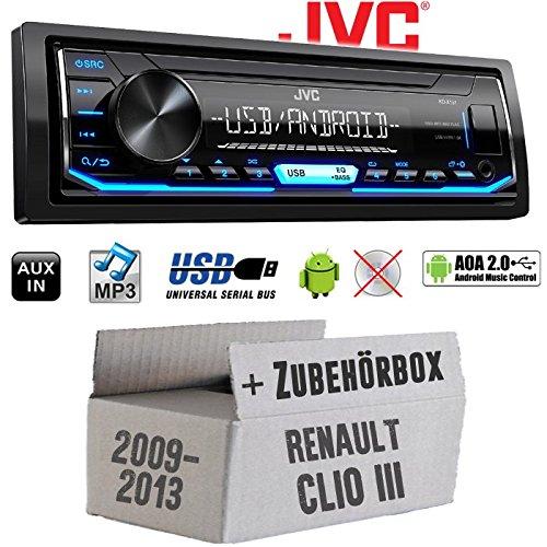 Renault Clio 3 FL - Autoradio Radio JVC KD-X151 | MP3 | USB | Android 4x50Watt - Einbauzubehö r - Einbauset JUST SOUND best choice for caraudio ReCl3FL_KD-X151