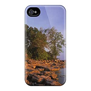 Fly Angel Case Cover Iphone 4/4s Protective Case Pointe Aux Barques Lighthouse Lake Huron by runtopwell
