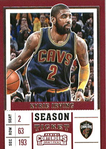 - 2017-18 Panini Contenders Drafts Picks Season Ticket #34 Kyrie Irving Blue Jersey Cleveland Cavalier