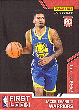 9773de0defd4 2018-19 Panini Instant Basketball  FI-24 Jacob Evans III Rookie Card Golden