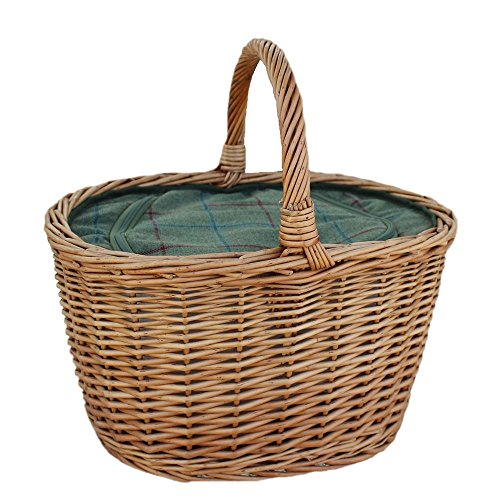 Oval Wicker Basket with Zipped Cooler Bag by Red Hamper
