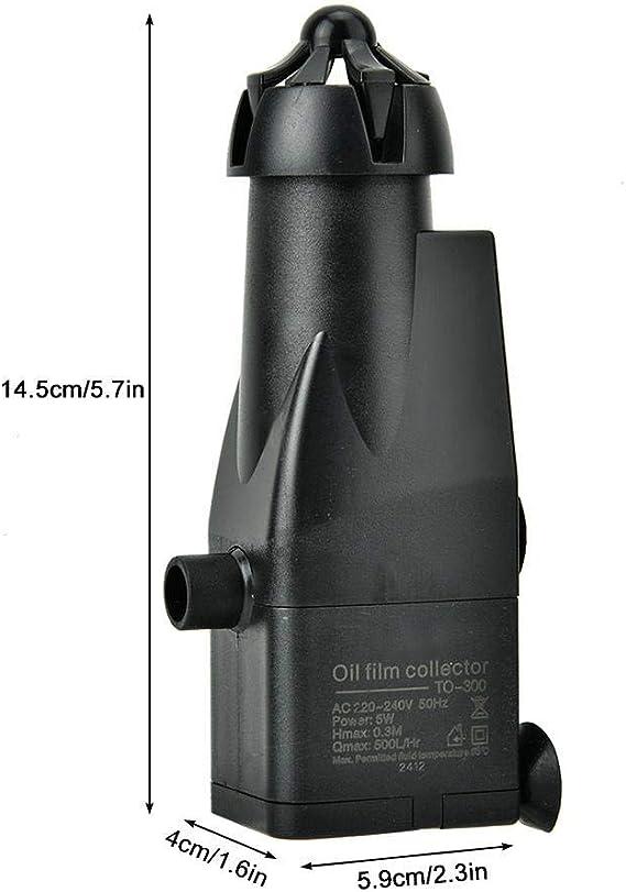 Pssopp Skimmer de Superficie de Acuario Tanque de Pescado Proteína Skimmer de Aceite Aceite de Superficie de Acuario Skimmer Filtro Mini Auto Fish ...