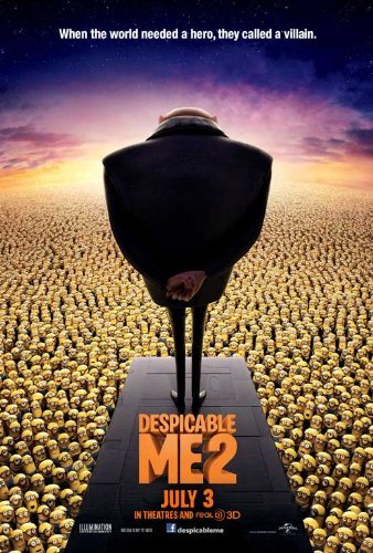 Poster of Despicable Me 2 2013 Full Hindi Dual Audio Movie Download BluRay Hd 720p