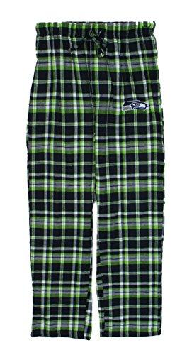 (Seattle Seahawks Adult X-Large Flannel Plaid Pajamas Sleep Pants - Sleepwear)