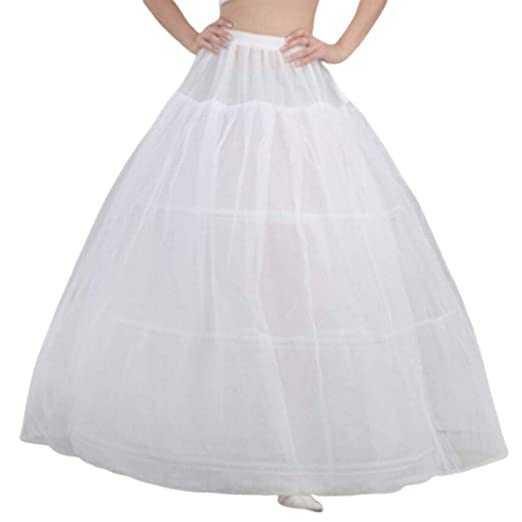 Mikiya - Vestido de Novia para Novia, con Falda de 3 Aros, 1 Capa ...