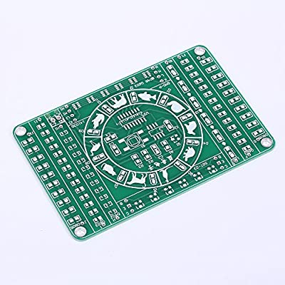 Icstation DIY Electronics SMD SMT Components Soldering Practice Board Kits with Spinning Prize Wheel Function: Industrial & Scientific