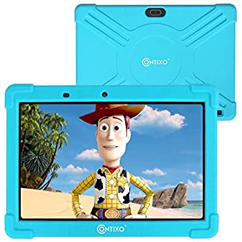 Contixo K101A 10 inch IPS Show Youngsters Pill with 2GB RAM 16GB ROM Android 10 Parental Management for Kids Toddler Toddlers at Residence Faculty, Instructional Pill for Youngsters, WiFi, Youngster-Proof Case (Blue)