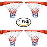 Basketball Net All-Weather Thick Heavy Duty for Standard Outdoor or Indoor Basketball Hoop(4 Pack)