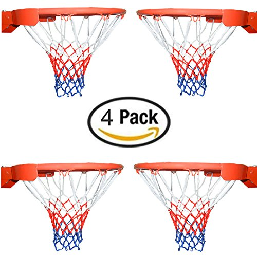 Basketball Net All-Weather Thick Heavy Duty for Standard Outdoor or Indoor Basketball Hoop(4 Pack) – DiZiSports Store