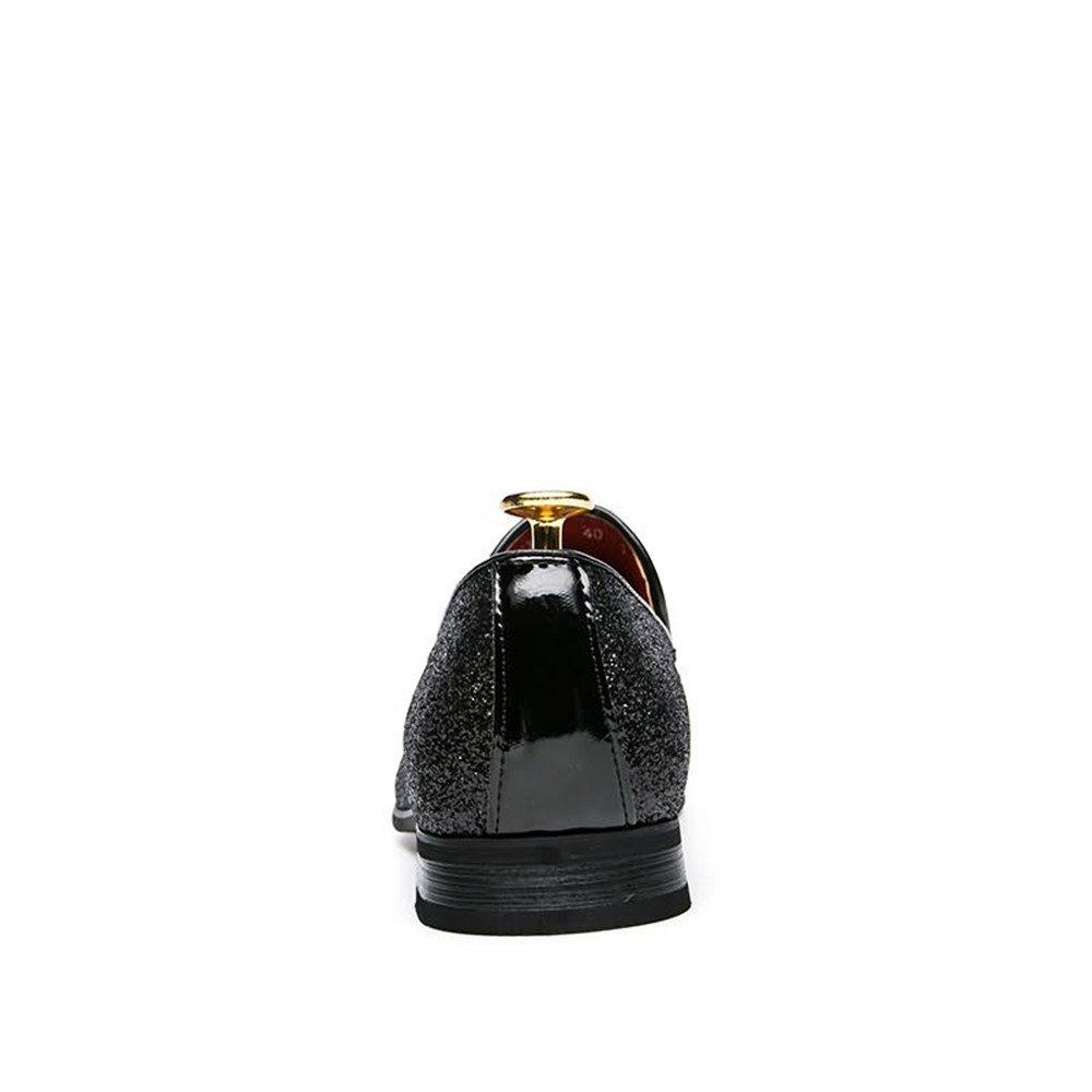 Xujw-schuhe, British 2018 Schuhe Herren Herren British Xujw-schuhe, Oxfords Flache Ferse Peep Toe mit Niet Volltonfarbe Slip on Freizeitschuhe (Farbe : Schwarz, Größe : 38 EU) Schwarz 2735e5