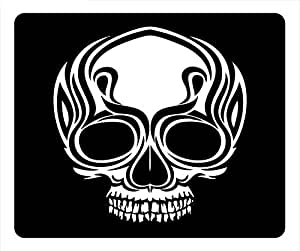 Flame Skull Oblong Gaming Mouse Mat Empty