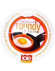"MSC International FBA_50600 50666 Joie Eggy 3.5"" Non-Stick Silicone Compact Egg Ring with Folding Handle, Orange"