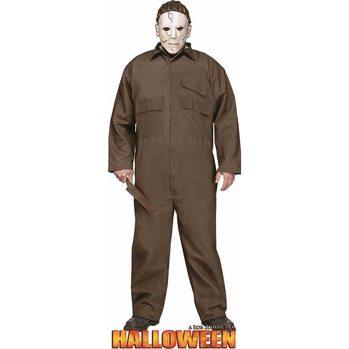 amazoncom adults mens halloween classic slasher villain michael myers boilersuit costume toys games