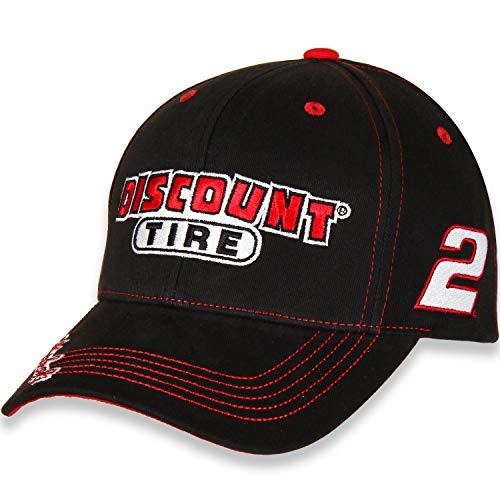 (Checkered Flag Brad Keselowski #2 Discount Tire 2018 Die Hard Fan Nascar Adjustable Hat/Cap)