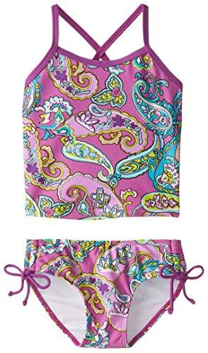 (Kanu Surf Toddler Girls' Melanie Beach Sport 2-Piece Banded Tankini Swimsuit, Caroline Purple Paisley, 3T )