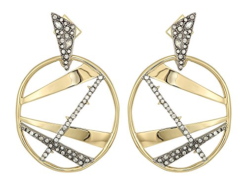 Alexis Bittar Women's Crystal Encrusted Plaid Dangling Post Earrings 10k Gold/Antique Rhodium Accents One Size