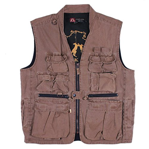 Kakadu Traders Delta Multi Pocket Vest made from Canvas