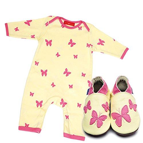 """Inch Blue niñas niños zapatos de bebé de cuero & Body de algodón en caja regalo Set–impreso–""""Caleidoscopio"""""""