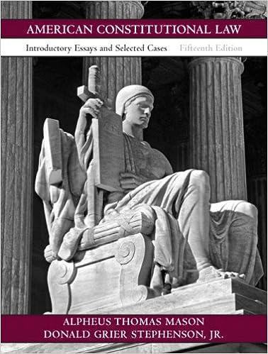 Constitutional law essays