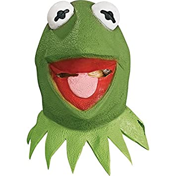 Kermit Muppets show mask for adults. (máscara/careta)