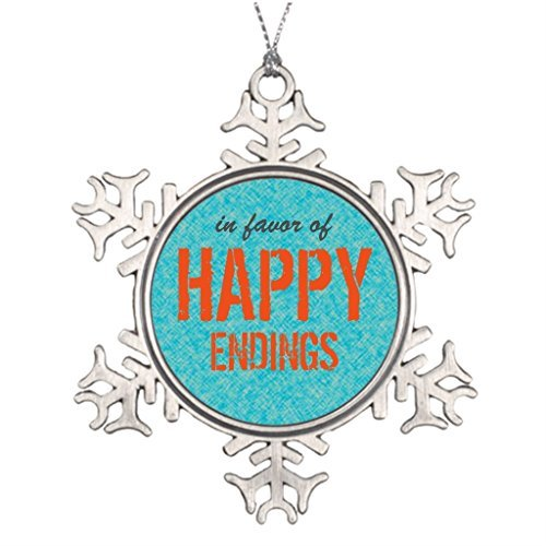 Huky Personalised Christmas Tree Decoration Happy Endings Christmas In Heaven Snowflake Ornament ()