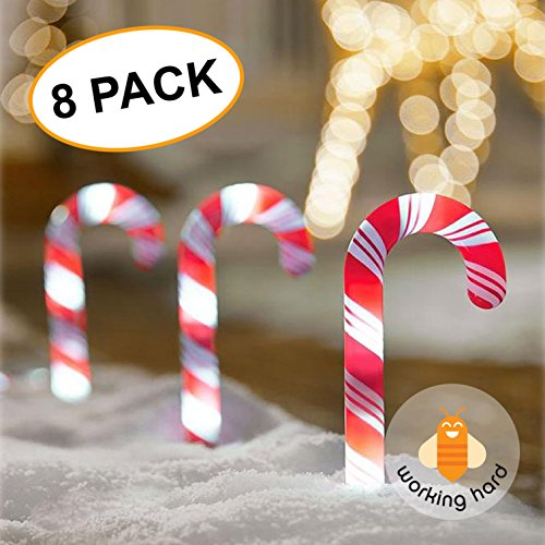 Candy Cane Outdoor Lights Stakes in Florida - 8