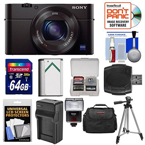 Sony Cyber-Shot DSC-RX100 III Wi-Fi Digital Camera with 64GB