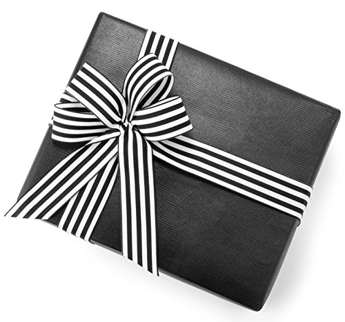 """(Textured Gift Wrapping Paper :: Black Faux Lizard Leather Gift Wrap :: Luxury Gift Wrapping Paper :: High-end Gift Wrapping for Presents :: 6 Sheets Each 31"""" X 43 """" :: Continuous Wrapping Paper Roll)"""