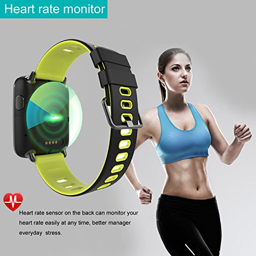 Smart Watch for iPhone & Android Phones,Willful SW018 Smartwatch Fitness Tracker Heart Rate Monitor Watch,Sleep Monitor Pedometer Watch for Men Women Green (IP68 Waterproof,3M Diving) by Willful (Image #3)
