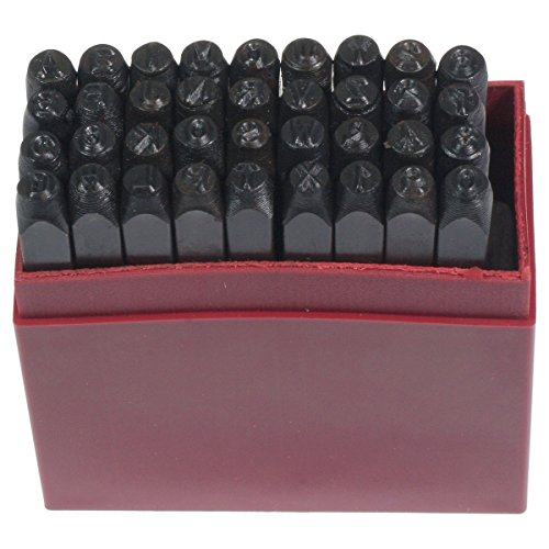 "HTS 102X6 36 Pc 1/8"" / 3mm Letter & Number Stamp Punch Set"