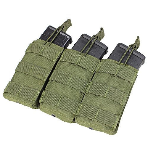 Condor Triple M4/M16 Open Top Mag Pouch, Olive Drab