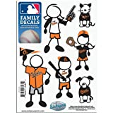 MLB Baltimore Orioles Small Family Decal Set