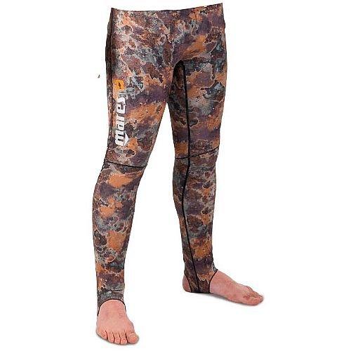 Mares Men's Pure Instinct Rash Guard Pants, Camo Brown, Large