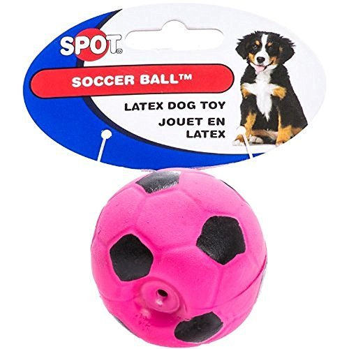 6 Pack Latex Soccer Ball, Assorted Colors, Toys for Small Dogs and Puppies (Size: 2 Inch)