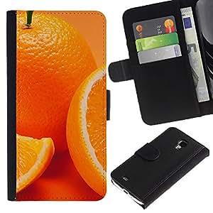 JackGot ( Anaranjado lindo ) Samsung Galaxy S4 Mini i9190 (NOT S4) la tarjeta de Crédito Slots PU Funda de cuero Monedero caso cubierta de piel