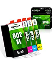 $29 » Victoner Compatible Ink Cartridge Replacement for HP 902XL 902 XL Ink Cartridge to use with HP Officejet Pro 6978 6968 6962 6958 6970 HP 902 Ink Cartridges Printer (Black Cyan Magenta Yellow 4-Pack)