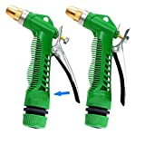 Onbio Car High Pressure Washer Water Gun Adjustable Garden Hose Water Sprayer Gun (Green)