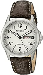 Citizen Eco-Drive Men's AW0040-19X Brown Leather Watch