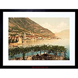 VINTAGE PHOTO TRAVEL GARGNANO LAKE GARDA ITALY FRAMED PRINT F97X7632