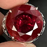 by lucky Fashion Jewelry 925 Silver Women/Mens Red Ruby Gemstone Ring Wedding Jewelry (10)