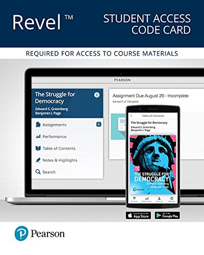 Revel for The Struggle for Democracy, 2016 Presidential Election Edition -- Access Card (12th Edition)