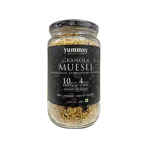 Yummsy Granola Muesli. Sugar Free & Gluten Free. 10g Protein, 4g Fibre per Serving from The Ingredients.