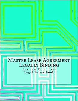 Master Lease Agreement   Legally Binding: Business Computers Legal Forms  Book: Julien Coallier: 9781548025922: Amazon.com: Books Amazing Design