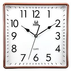 10 Inch Modern Non Ticking Silent Quartz Analog Digital Square Wall Clock