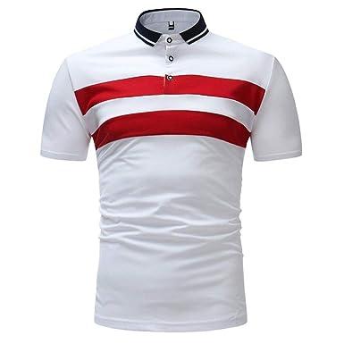 Camisas De Polo Hombres Manga De Camiseta De Básica Verano Ropa ...