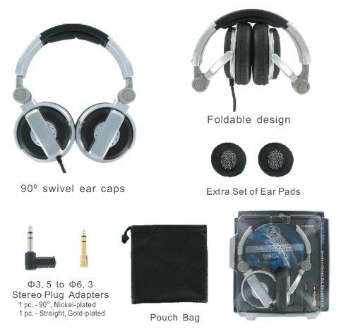 - AV-JEFE DJ Class Professional Stereo Headphone_High-Powered, Heavy Duty, Foldable and Comfortable