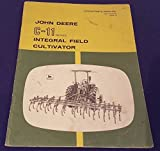 JOHN DEERE C-11 Integral Field Cultivator Operators Manual