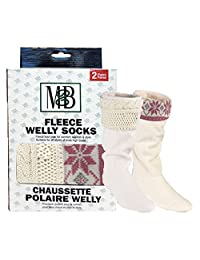Moneysworth and Best Fleece Welly Socks Two Pack