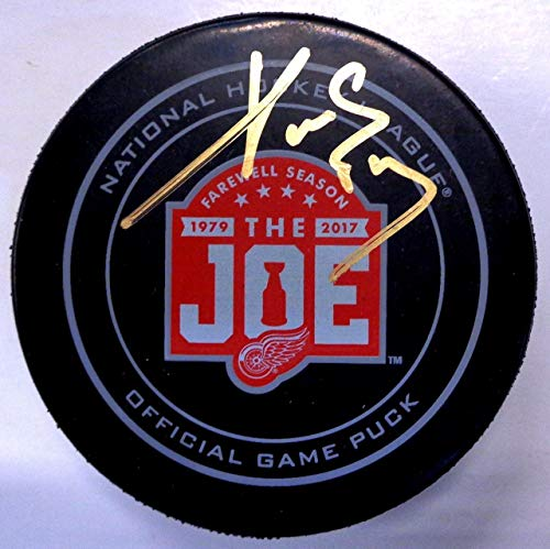 Autographed Pavel Datsyuk Puck - Farewell to the Joe Official - Autographed NHL Pucks