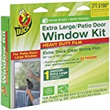 Duck Brand 284352 Heavy-Duty Shrink Film Indoor Window Insulation Kit, 84-Inch x 120-Inch